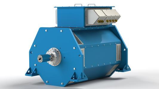 H30 Rendering View: Die gerenderte Ansicht eines Hochspannungsgenerators mittlerer Größe aus der Produktpalette von B.E.M.