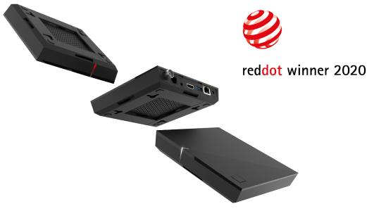 Red Dot Award: Product Design 2020 für Ocilions P400 Set Top Box Familie (abgebildet: P420/P470)
