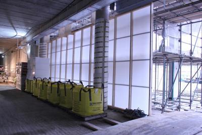 Baustellen können provisorisch helfen, Baustellen winterfest gegen schlechtes Wetter abzudichten.