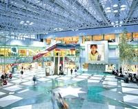 Vorschau verschiedener Einsatzmöglichkeiten der Displays Anwend Einkaufszentrum