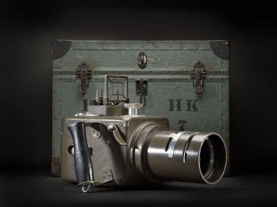 High-resolution imagery of the early Hasselblad camera HK-7 captured by the H6D-400c MS