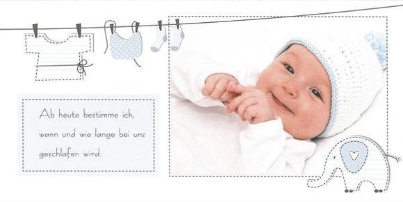 Auch lustige Sprüche verleihen der Geburtskarte dem Gefühl der Eltern Ausdruck. CEWE CARDS gibt es als Klappkarte XL Falz lang im 10er-Set ab 16,99 Euro