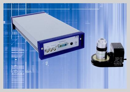 Einkanaliger, digitaler Piezocontroller E-753mit PIFOC Objektivpositionierer für die Mikroskopie