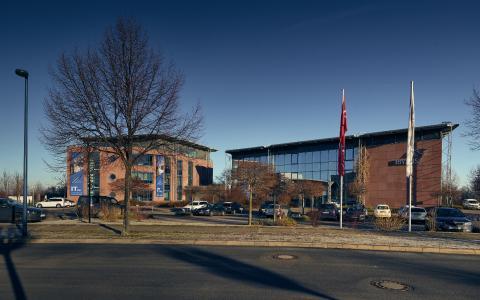 Der Firmenhauptsitz der IBYKUS AG befindet sich im Gewerbegebiet Erfurt-Südost. Hier arbeitet ein Großteil der 190 Mitarbeiter / Foto: IBYKUS AG