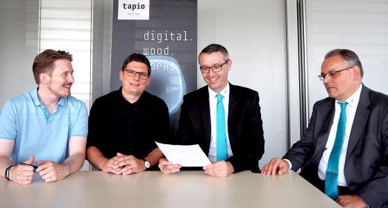 V.l.n.r. tapio – Christian Neumann, Matthias Volm; AIT – Lars Roith, Franz Mattes