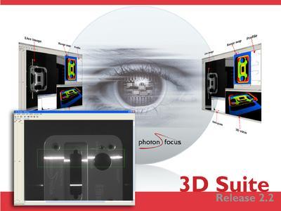 3D Suite Release 2.2 – Die schnelle Photonfocus 3D03 Kamera wurde zur Eliminierung von Vibrationen und zur Bestimmung von Dicken transparenter Objekte mit zwei getrennt einstellbaren Triangulationsbereichen ausgestattet