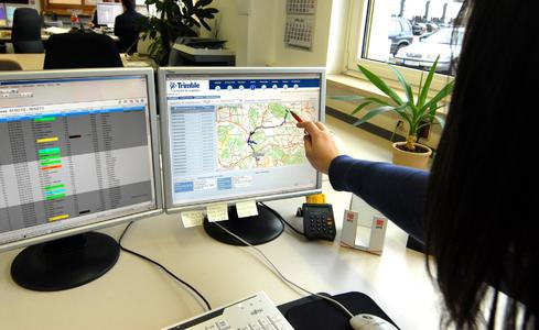 Trimble in der Disposition bei Sievert Handel Transporte