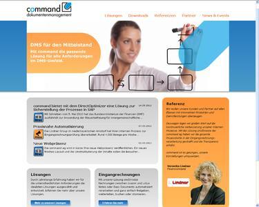 Frisch, übersichtlich und mit neuem, eigenen Logo: command dokumentenmanagement präsentiert sich neu im Internet