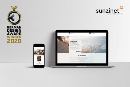 German Design Award 2020: zweifache Auszeichnung für sunzinet
