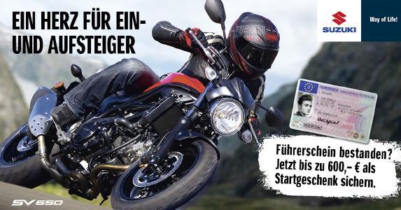 Suzuki fördert Motorrad-Nachwuchs