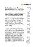 [PDF] Pressemitteilung: Sechs Länder, ein Ziel: neue Warnstrategien und -lösungen