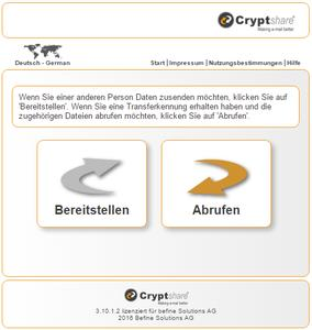 Das Cryptshare Web-Interface