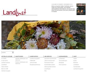 Die schönsten Seiten des Landlebens online: Die Website von LandLust auf Basis des Content Management Systems InterRed