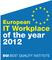 GRÜN gewinnt European IT Workplace Award of the Year 2012