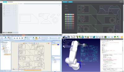 BobCAD-CAM, Deepnest and RoboDK