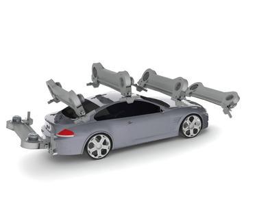 Intelligente Abtastung durch die OptiAir Technik - Abhängig von der individuellen Fahrzeugkontur verändert sich der Anstellwinkel der Trockendüse fortlaufend und schafft somit eine verbesserte Trocknung. Das schwenkbare Dachgebläse OptiAir passt sich individuell der Fahrzeugkontur an