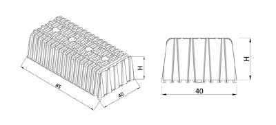 Airplast Schalungen stehen in 8 unterschiedlichen Größe und Höhen zur Verfügung: AIRPLAST H12       85 × 40 x H12 cm AIRPLAST H16       85 × 40 x H16 cm AIRPLAST H20       85 × 40 x H20 cm AIRPLAST H24       85 × 40 x H24 cm AIRPLAST G-H9      73.5 × 31.5 x H9 cm AIRPLAST G-H13     75 × 32.5 x H13 cm AIRPLAST G-H17     75 × 32.5 x H17 cm AIRPLAST G-H21     75 × 32.5 x H21 cm