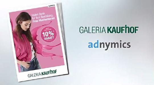 GaleriaKaufhof nutzt intelligente Paketbeilagen von Adnymics