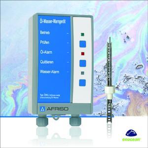 Das Öl-Wasser-Warngerät ÖWU mit EnOcean-Funk von AFRISO überwacht Räume auf Öl- oder Wasseransammlungen und ist einfach und schnell in die Gebäudeautomation integrierbar. Sollte eine Leckage auftreten, erfolgt beim Betreiber eine sofortige Warnmeldung auf sein Smartphone oder Tablet. Eine zuverlässige Lecküberwachung aus der Ferne ist somit gewährleistet. Foto: AFRISO