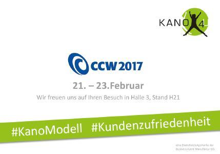 KANO4U auf der CCW Kongressmesse in Berlin vom 21.2. bis 23.2.2017.