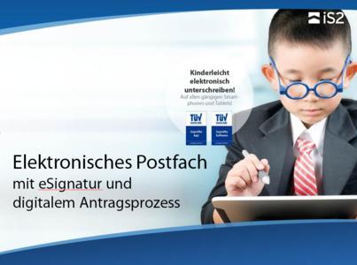 Screen1 E Postfach mit eSignatur und digitalem Antragsprozess