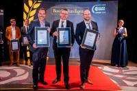 Die Gewinner des IT Awards 2019 im Bereich Business Intelligence (v.l.): Michael Schmahl von Oraylis, Matthias Herkommer von Qlik und Christian Winnige von Tableau / Bild: artful rooms/VIT