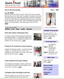 Zwick publishes an Online-Newsletter for materials and component testing
