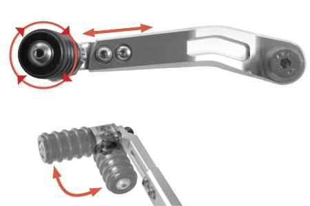 Application example: The »CLEVER LEVER« can not only be adjusted in the length but also offers a roller bearing for the highest comfort of shifting possible – Moreover, the lever is foldable up to 90 degrees to prevent itself against any damage.