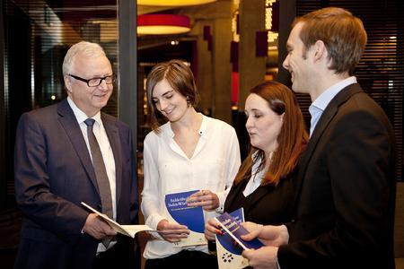 Reiner Müller und Katharina Kindler vom WSP zogen gemeinsam mit Nadine Kaiser und Michael Gradwohl von der WFG eine positive Bilanz der Arbeit der Fachkräfteallianz