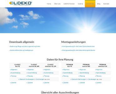 """Auch auf der LiDEKO-Website sind sämtliche für Ausschreibungen relevanten Angaben klar dargestellt. Einfach im """"Profi-Bereich"""" unter """"Downloads"""" nachschauen (Foto: LiDEKO)"""