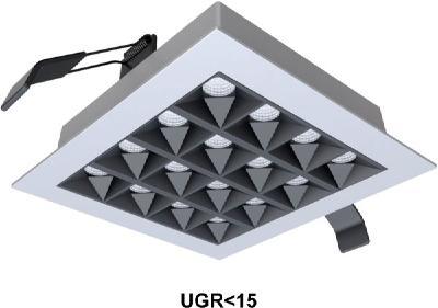 LEDAXO LED-Einbaustrahler ES-15, besonders blendarm (UGR<15) und mit hochwertiger und leistungsstarker LED-Lichtquelle. Einfache und schnellle Installation.