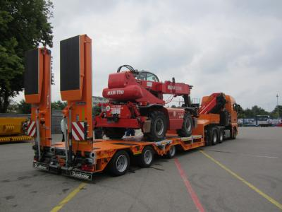 Der bisherige STZ-L mit Radmulden. Foto: Goldhofer