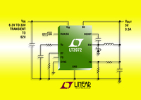 33VIN, 3.5A(IOUT), 2.4MHz Step-Down DC/DC Converter Draws Only 75uA of Quiescent Current & Withstands 62V Transients