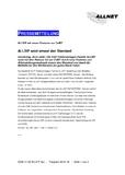 [PDF] Pressemitteilung: ALLSIP setzt erneut den Standard