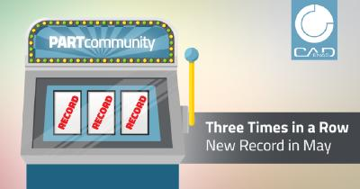 The triple is perfect: PARTcommunity shines for three months in a row with a new 3D CAD models download record