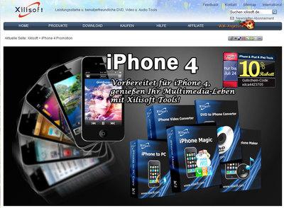 iPhone 4 & iOS4 Seite-Screen