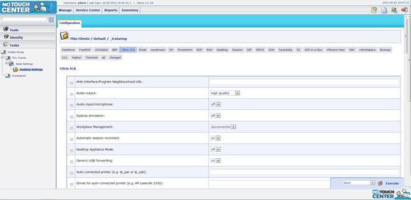 Screenshot Stratodesk NoTouch Center