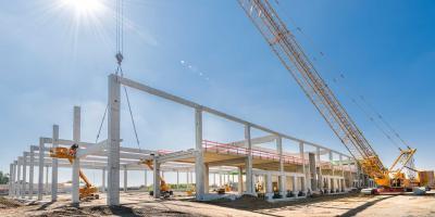 Zwischenstand Ende Juni: Die letzten Betonfertigteile der systematisierten Konstruktion wurden montiert