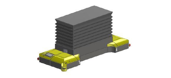 Plattformwagen Caesar PH-0,8 mit ausgefahrenem Hubtisch / Quelle: MLR Gruppe