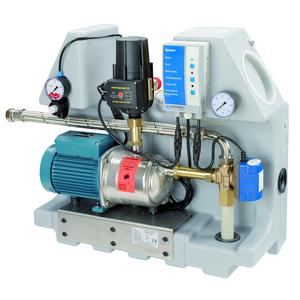The AFRISO RWSC rainwater system centre is now available with centrifugal pump or Jet pump (550/750 W). The high-power version can draw rainwater from cisterns as far away as 40 metres. Both RWSC versions are suitable for all standard rainwater tanks
