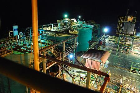 Produktionsanlage auf der Goldmine Selinsing; Foto: Monument Mining