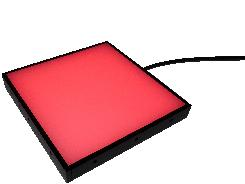 compact BLC backlight in red