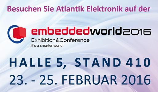 Atlantik Elektronik auf der embedded world 2016