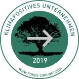 Logo klimapositives Unternehmen