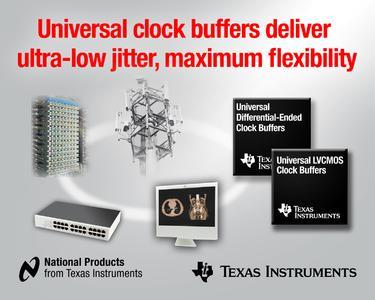 Neue Taktpuffer von Texas Instruments mit extrem geringem Eigenrauschen und additivem Jitter