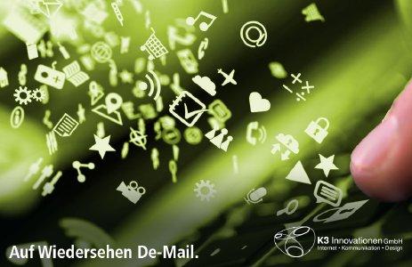 Auf Wiedersehen De-Mail - Eine sichere E-Mail-Lösung ohne Kunden-Akzeptanz.