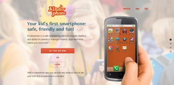Kinderphone -  kid`s first smartphone. Safe, friendly & fun.
