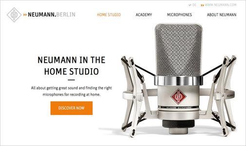 Die Microsite www.neumann.com/homestudio bietet eine Vielzahl von Tipps für das Home Recording, nützliche Produktinformationen und leicht verständliche Tutorial-Videos