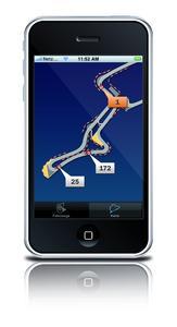 Auf der digitalisierten Rennstrecke lassen sich die Rennfahrzeuge via GPSoverIP live verfolgen.
