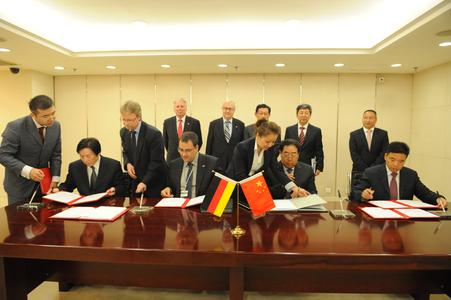 Gebr. Schmid signing strategic long term cooperation agreements with three leading Chinese companies under the attendance of Germans minster of economics Rainer Bruederle and the Chinese commerce secretary Chen Deming